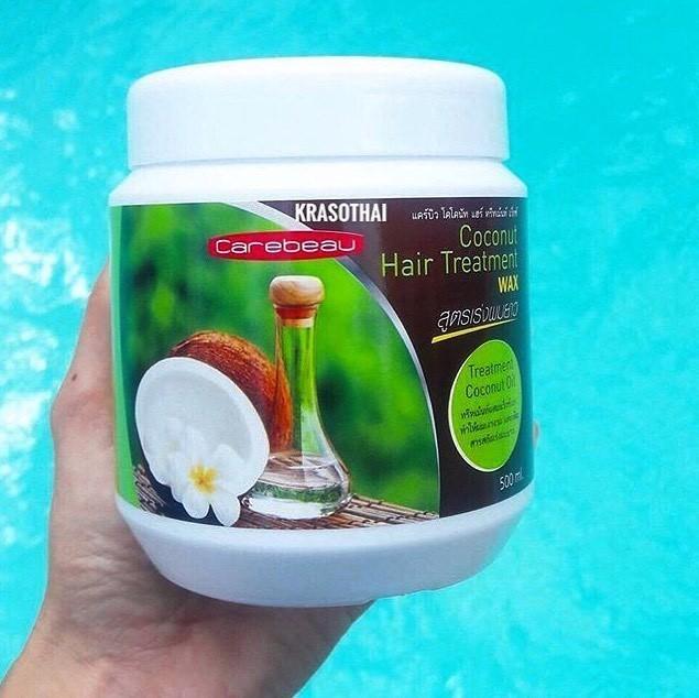 Кокосовая маска для поврежденных волос от Carebeau, Coconut Hair Treatment Wax купить в Иркутске