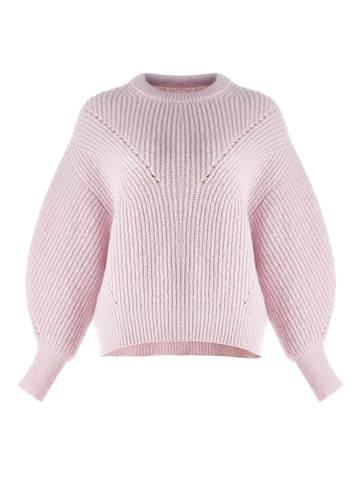 Женский джемпер светло-розового цвета из мохера - фото 1