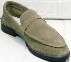 Летние лоферы туфли без каблуков Osso 2668 Beige.
