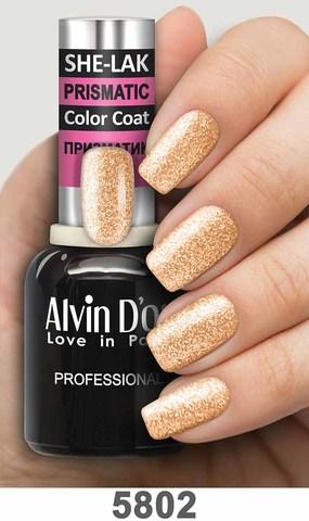 Alvin D`or Лак для ногтей SHE-LAK PRISMATIC  тон 5802 -8мл