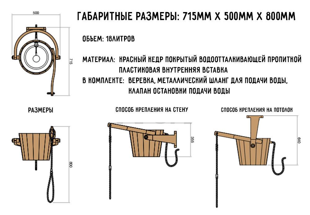 Размеры и способ крепления 393-D