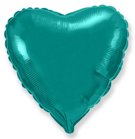 Шар-сердце тиффани, 45 см