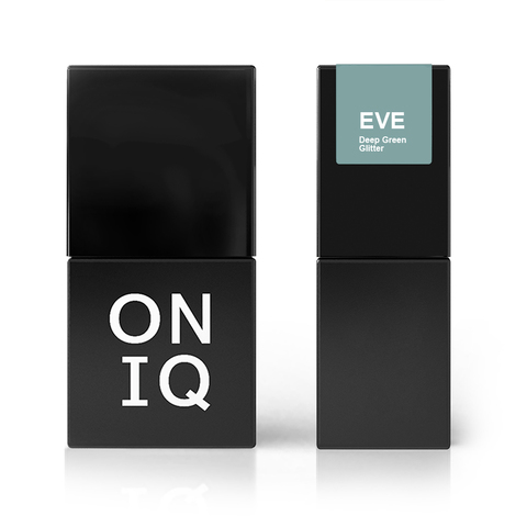 ONIQ Гель-лак 128, Eve: Deep Green Glitter, 10 ml