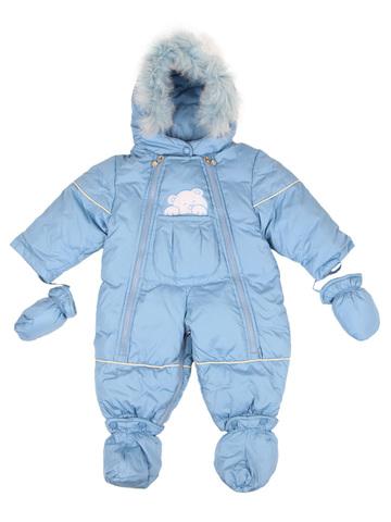 Комбинезон пуховой зимний голубой