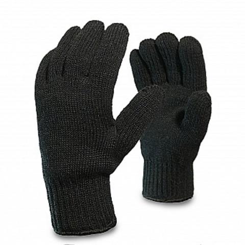 Перчатки п/ш двойной вязки, черные