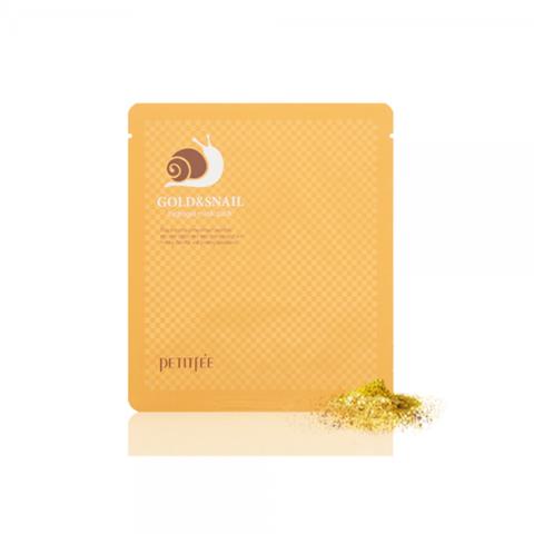Petitfee Гидрогелевая маска с золотом и муцином улитки Gold & Snail Hydrogel Mask Pack, 1 шт
