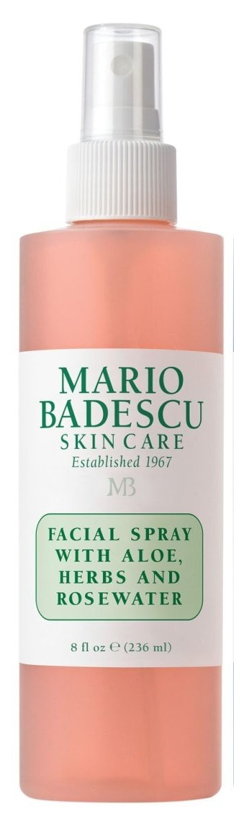 Спрей для лица Mario Badescu with aloe, herbs and rosewater розовый 236мл