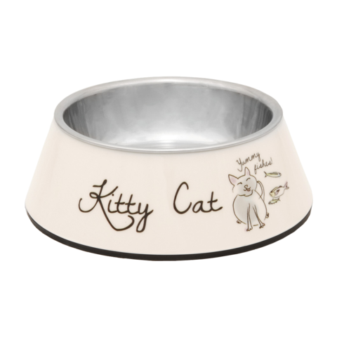Beeztees Kitty Миска для кошек 2 в 1 металлическая