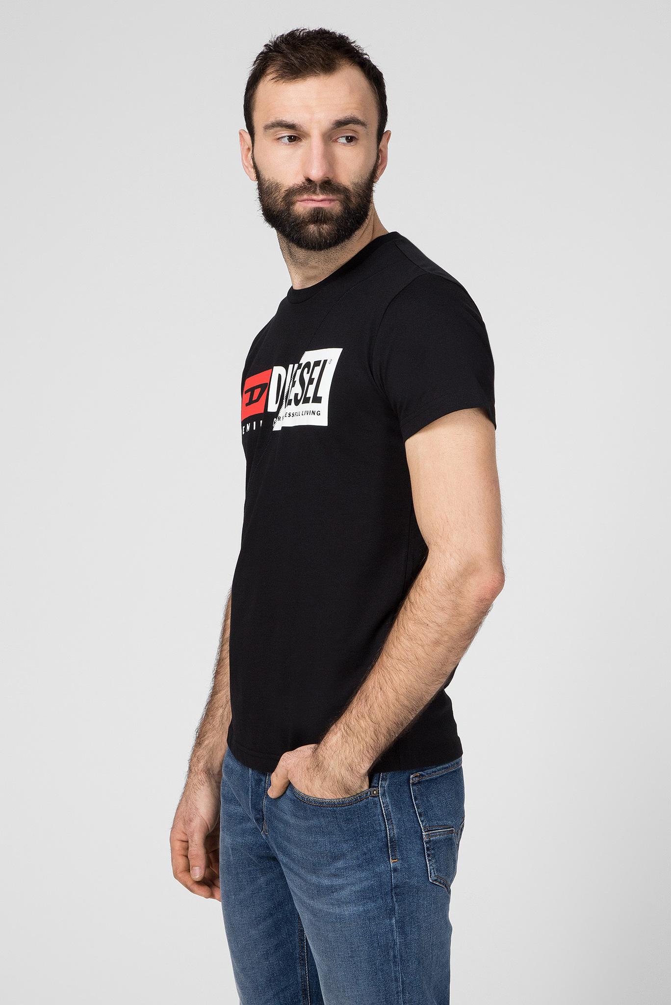 Мужская черная футболка T-DIEGO-CUTY Diesel