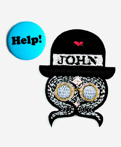 Набор из патча-заплатки John Lennon и значка