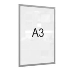 Рамка магнитная настенная Attache А3 ПЭТ, серая, 5 шт/уп