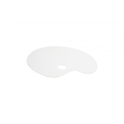 Палитра акриловая овальная, белая, 24х35см, оргстекло 2мм, ПБ24352