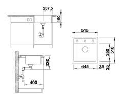 Мойка кухонная Blanco Dalago 5 Silgranit - схема