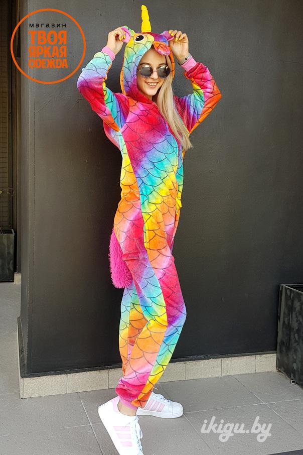 Пижамы кигуруми Единорог Драконовый (с поясом) RAD.jpg