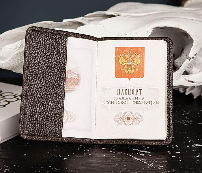 BC216-6 Коричневая обложка для паспорта из кожи «Hanz» фото 05