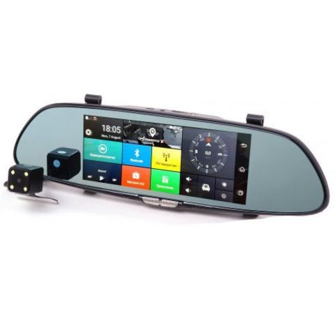 Автомобильный видеорегистратор XPX ZX867 зеркало видеорегистратор на Android 7 дюймов с 2 камерами