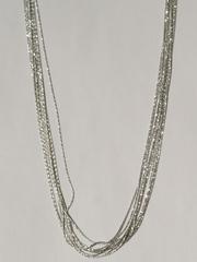 Колье из серебра,10 нитей (серебряная цепочка).