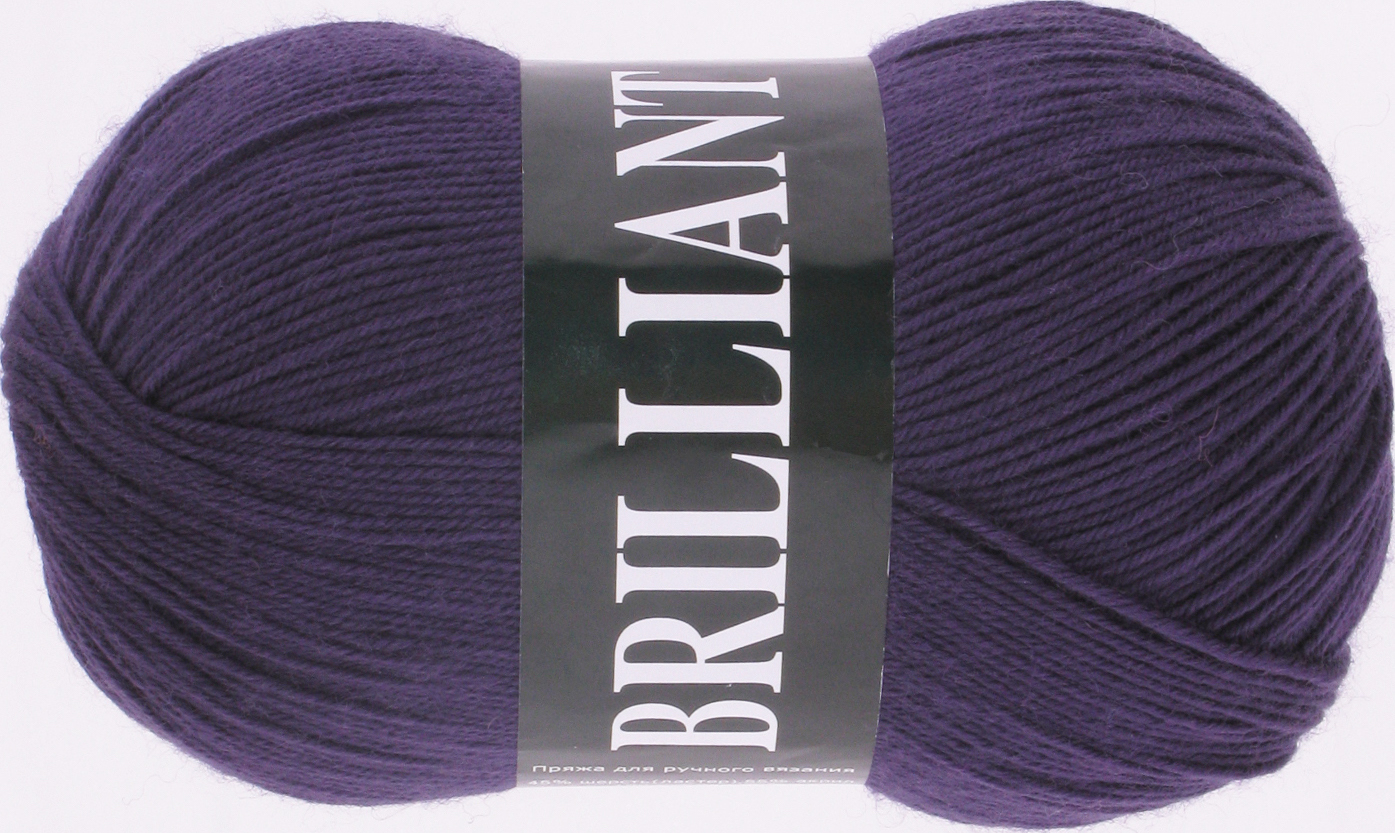 Пряжа Vita Brilliant темно-фиолетовый 4977