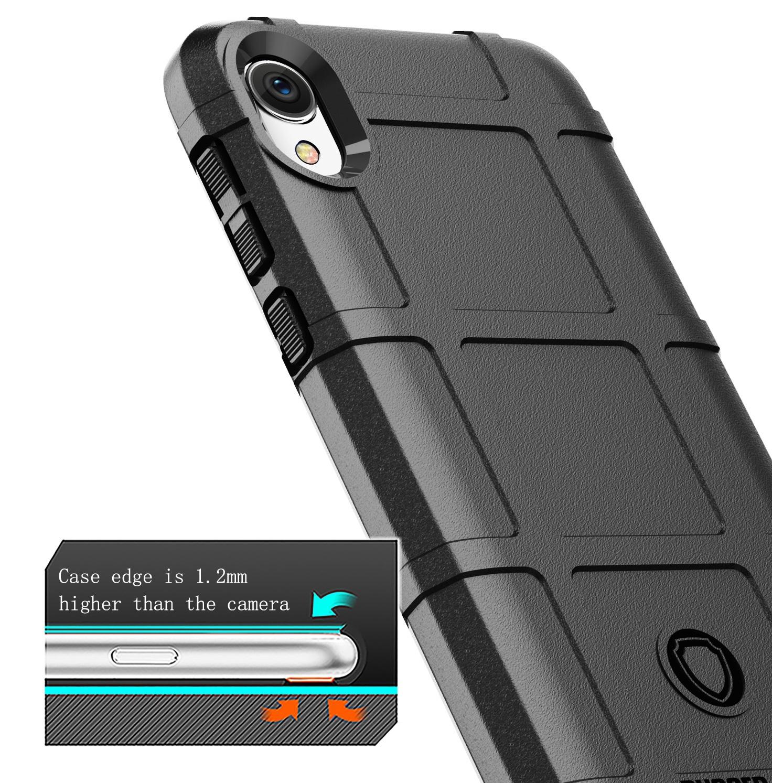 Чехол для Motorola Moto E6 цвет Black (черный), серия Armor от Caseport