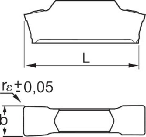 Прорезная пластина Получистовая обработка HB7215