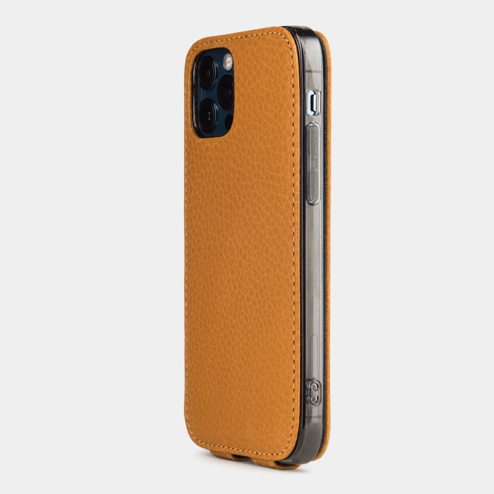 Чехол для iPhone 12 Pro Max из натуральной кожи теленка, золотого цвета