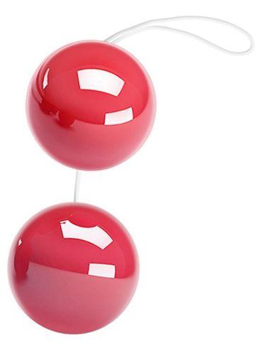 Розовые двойные вагинальные шарики с петелькой