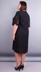 Ажур. Гарна сукня size plus. Чорний.