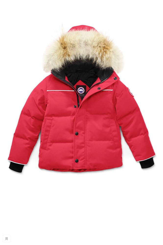 SNOWY OWL PARKA KIDS RED 3865