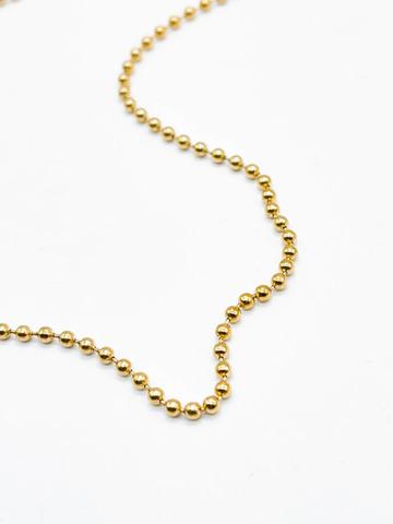 Цепь базовая плетения перлина / gold tone /