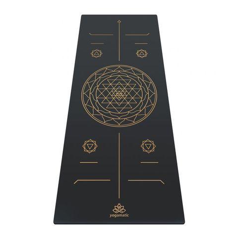 Каучуковый коврик для йоги Art Sri Yantra Gold 185*68*0,4 см