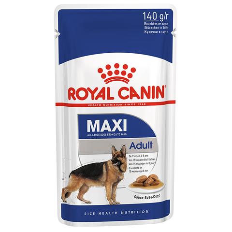 ROYAL CANIN Консервы в соусе для взрослых собак крупных пород MAXI Adult 140 гр.