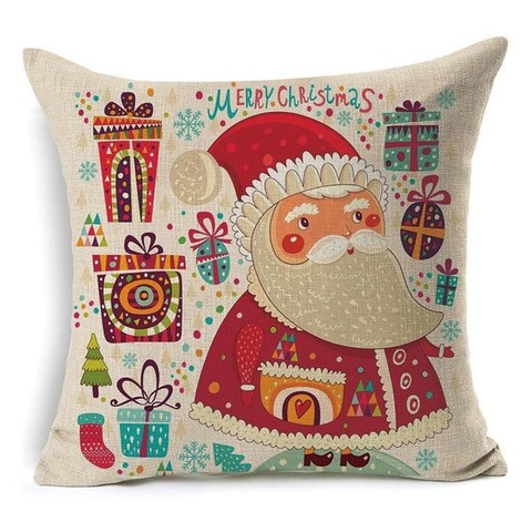 Наволочка декоративна новорічна - Санта
