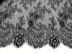 Кружевное полотно шантильи черное (1,4х3м)
