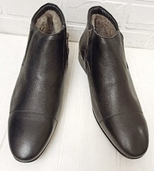 мужские зимние ботинки под костюм