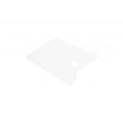 Палитра акриловая прямоугольная, белая, 20х30см, оргстекло 2мм, ПБ20302