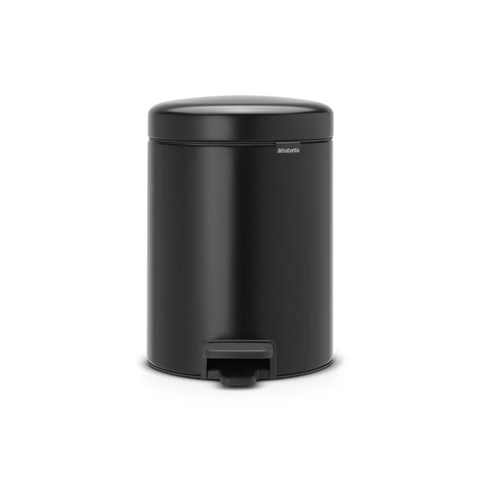 Мусорный бак newIcon с педалью (2x2 л), Черный матовый, арт. 280405 - фото 1