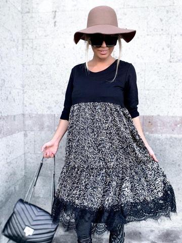 Платье New 20410 комбинир