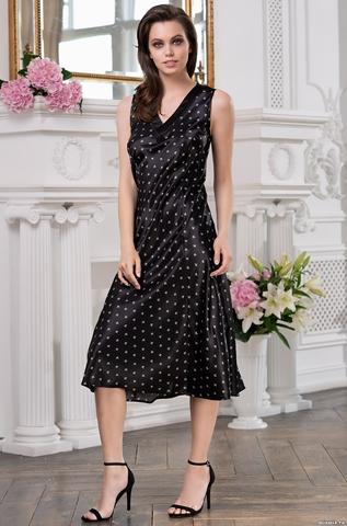 Длинная женская сорочка Mia-Mella CLEVER КЛЕВЕР 8948 черный