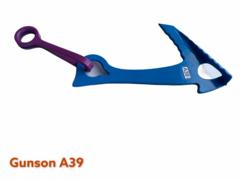 A39Якорь средний /3мм / левый отгиб / синий / 3-10mm / L-130mm / W-69g