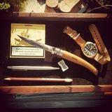 Нож складной филейный Opinel №15 VRI Folding Slim Beechwood