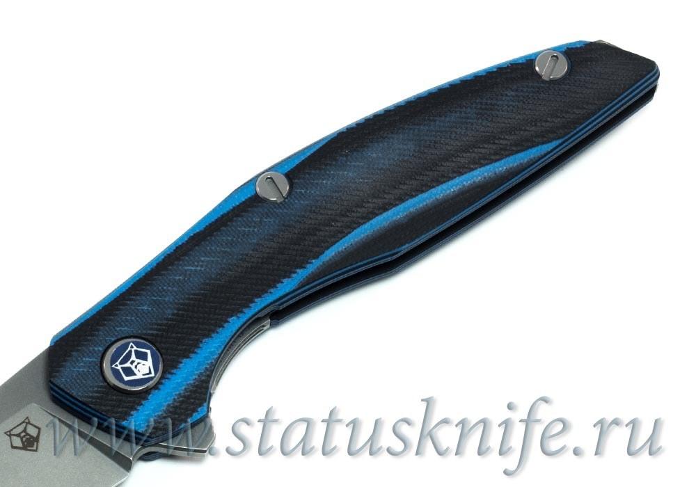 Нож Широгоров 111 Vanax37 G10 black blue 3D MRBS - фотография