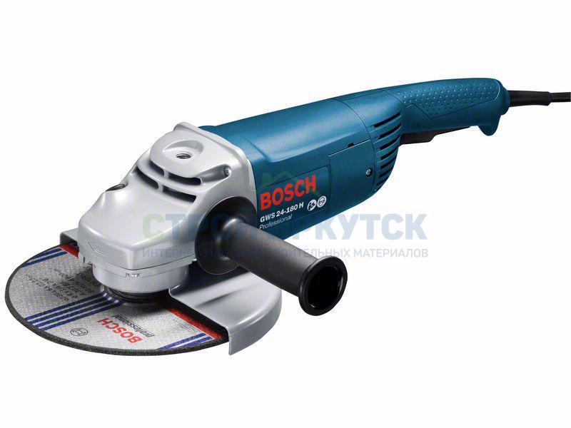 Шлифовальные машины Угловая шлифмашина Bosch GWS 24-180 H (0601883103) 1f11083e2b81d25160ffe17d8f894a47