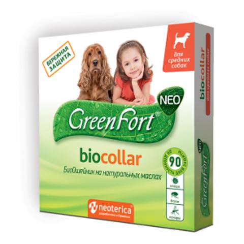 Грин Форт NEO БиоОшейник для средних собак 65 см.