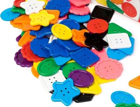 Набор больших цветных пуговиц Edx education 13830C