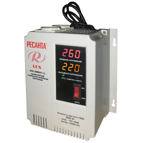 Стабилизатор напряжения Ресанта АСН LUX 2000 Н/1-Ц