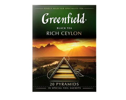 купить Чай черный в пирамидках Greenfield Rich Ceylon, 20 пак/уп