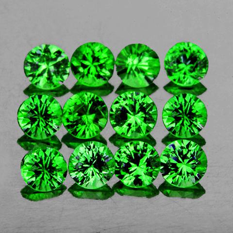 Гранат Цаворит круг 2,7 мм цена за 1 штуку