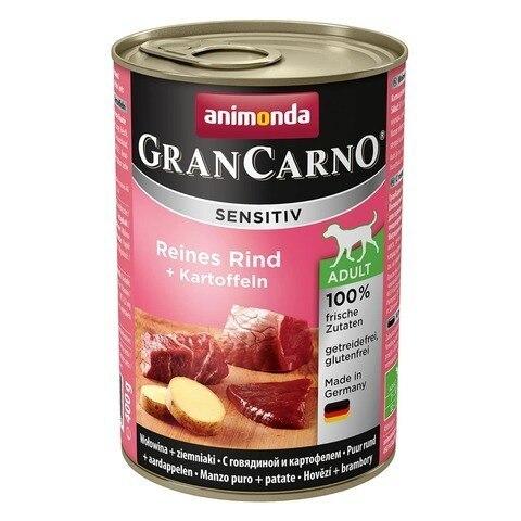 Влажный корм Animonda GranCarno Sensitiv c говядиной и картофелем