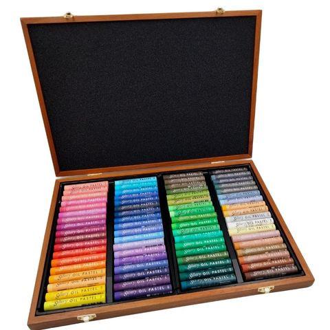 Пастель масляная 72 цвета, мягкая профессиональная, Mungyo в деревянной коробке