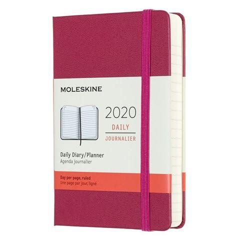 Ежедневник Moleskine CLASSIC Pocket 90x140мм 400стр. фиксирующая резинка фуксия